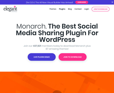 Monarch social media sharing plugin for wordpress